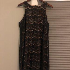 Ronni Nicole black sparkle lace dress size 12